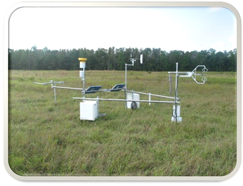 Micrometeorological station at Starkey pasture, Pasco County, Florida.