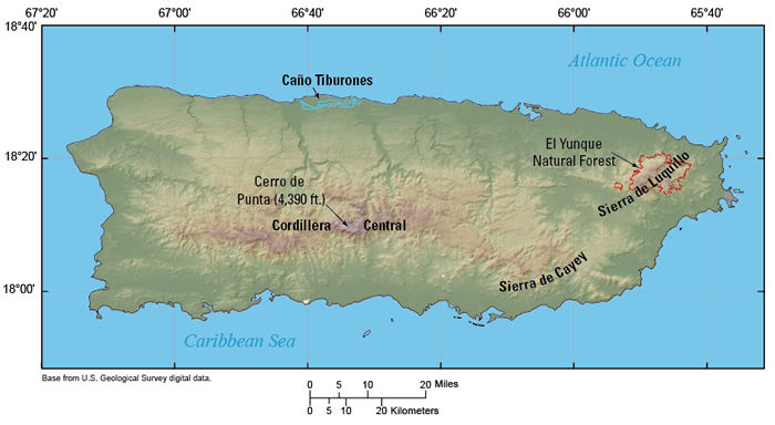 Selected geographic features of Puerto Rico