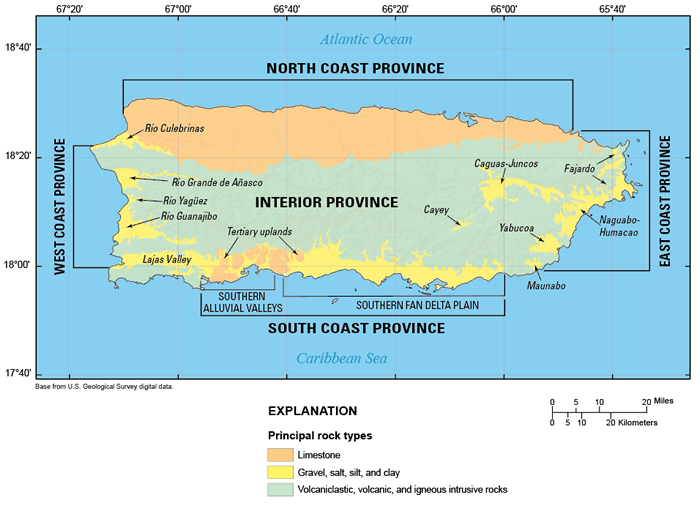 Ground-water provinces of Puerto Rico