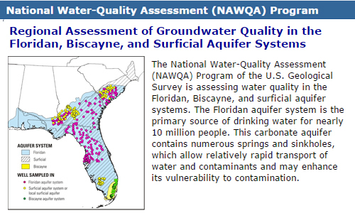 Regional Assessment of Groundwater Quality in the Floridan, Biscayne, and Surficial Aquifer Systems