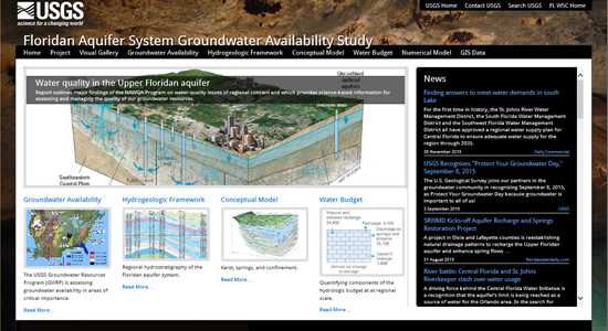 Floridan Aquifer System Groundwater Availability Study website