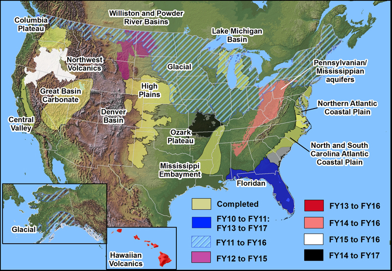USGS Floridan Aquifer System Groundwater Availability Study - Map Of Us River Systems
